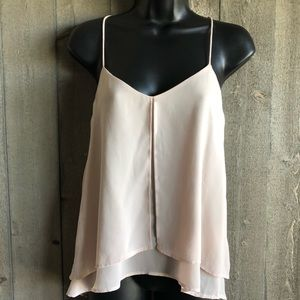 H&M Split Front Double Layer Flowy Camisole Shell
